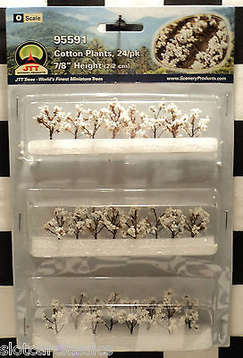"Jtt Scenery 95591 Cotton Plants 24/pk  O-Scale 7/8"" Tall    Jtt95591"
