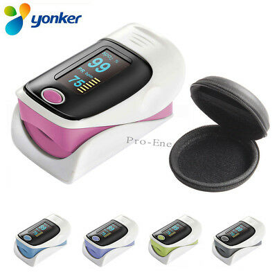With Case Fingertip Pulse Oximeter OLED Blood Oxygen SpO2 Monitor Heart RateBeep
