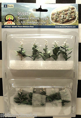 "Jtt Scenery 95587 Tobacco Plants 10/pk  O-Scale 1 1/2"" Tall   Jtt95587"