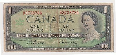 (WV-182) 1963 Canada $1 Bank note (B)