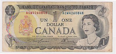 (WV-181) 1973 Canada $1 bank note (A)