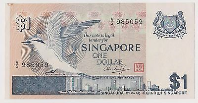 (WV-150) 1967 Singapore $1 Bank note (F)
