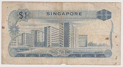 (WV-146) 1967 Singapore $1 Bank note (A)