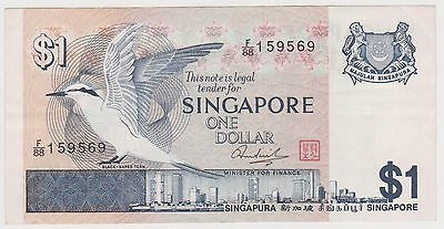 (WV-158) 1967 Singapore $1 Bank note (N)