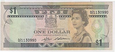 (WV-140) 1983 Fiji $1 QEII Bank note (A)