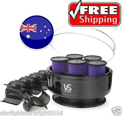 Hair Rollers Heated Hot Curlers Large 5 Curling Roller Set Curls Roll Styler