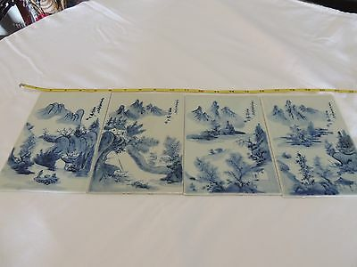 Chinese hand painted porcelain screens plaques tiles