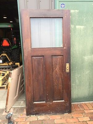 D 217 Antique Pine Two Panel Arts And Crafts Entrance Door