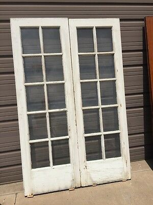 D 226 One Pair Painted Pine Or Popular French Doors