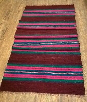 Handmade ORIGINAL KILIM SEMI ANTIQUE WOOL RUNNER 205cm X 63cm