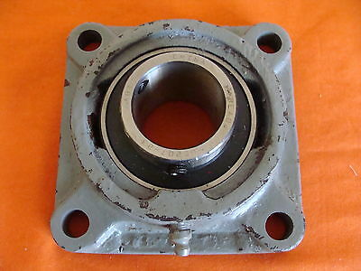 """Sealmaster F506 Frame With New Uc207-23 Bearing Insert Installed 1 7/16"""" Bore"""