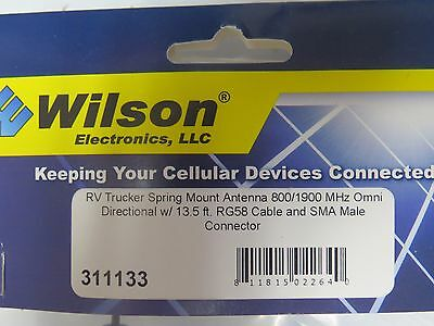 Wilson 311133 Dual Band RV W/Spring Antenna 800/1900 MHz