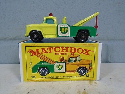 Matchbox Dodge Wreck Truck BP gas #13 Lesney nMINT w/Original E Box Tow Wrecker