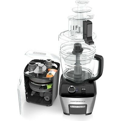 Black Decker  Cup Performance Food Processor In Stainless Steel