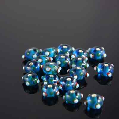 10pcs limited edition lampworked glass beads-Rondelle 16x8mm (63Z-4)