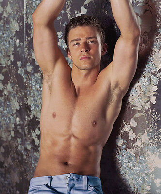Justin Timberlake UNSIGNED photo - 7251 - TOPLESS!!!!!