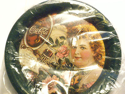Vtg. Coca Cola Metal Coasters New But Old Factory Sealed Ladies Advertisment