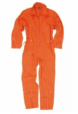 BW FLIEGERKOMBI Kombi Pilot Overall Outdoor Kombi ORANGE Gr. 52