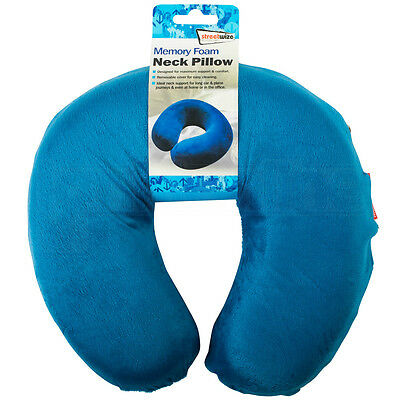Memory Foam Neck Pillow Cushion Support Car Plane Travel Soft Velour U Shaped