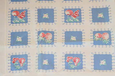 Vintage Tablecloth~Fruits~Apples~Grapes~Cherries Border~A Classic Beauty!