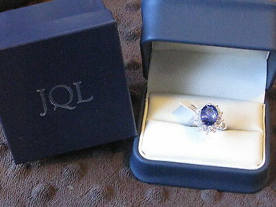 JAQU DE LILI  White Gold Tanzanite & Diamond Ring