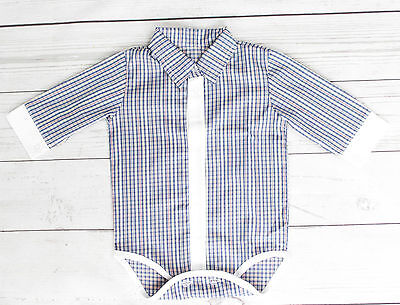 Baby Boy Smart Shirt Style Formal Bodysuit Body Shirt Long  Sleeve 0-18M