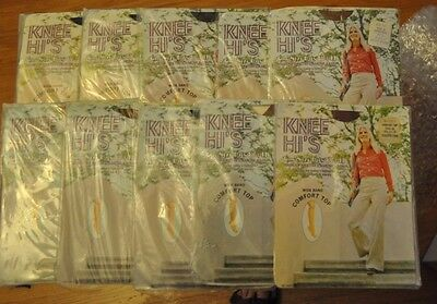 10 Unopened Packs Vintage Rare 1970's Knee HI's Stockings Hose 8 1/2 -11