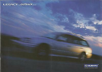 Subaru Legacy & Outback Estates UK Market Brochure Circa 2000-2003 14 Pages
