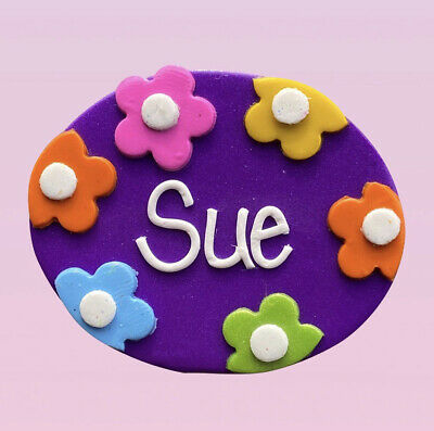 Flowers A Name Badge - with your name (loved by nurses)