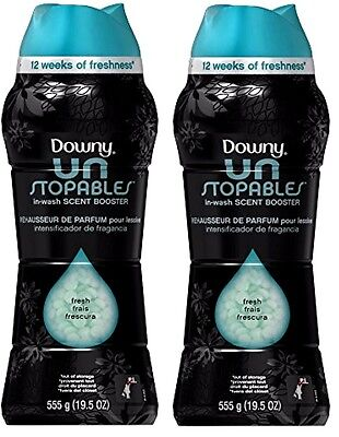 Downy UnStopables In Wash Fresh Scent Booster Unstopable 19.5 Oz Each 2 Packs !