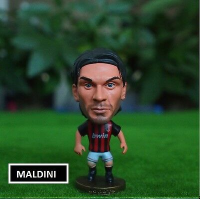 Statuina doll PAOLO MALDINI #3 AC MILAN capitano football action figure 7cm