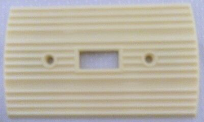 Vintage Rogers Ribbed Rounded Ivory Bakelite Wall Switch Plate Cover Art Deco