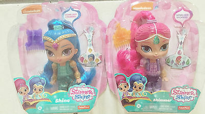 New Fisher-Price Set of 2 Shimmer and Shine Genies - Nickelodeon  3+