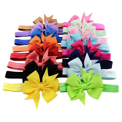 16PCS Headband Kids Girl Baby Toddler Bow Flower Hair Band Accessories Headwear