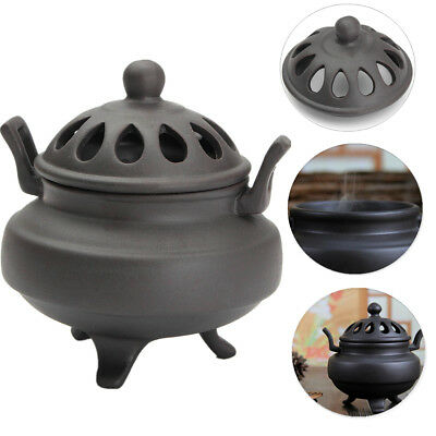 Vintage Buddhist Ceramic Sandalwood Charcoal Incense Burner Censer Holder Statue
