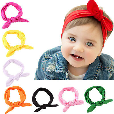 8 PCS Kids Girls Baby Headband Toddler Bow Flower Hair Band Accessories Headwear