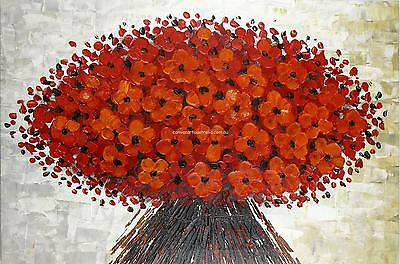 Framed Hand Painted Oil Wall Art On Canvas Ready To Hang - Autumn Bouquet
