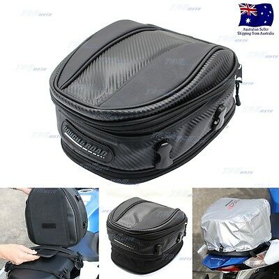 Motorcycle Scooter Sport Back Seat Bag Motocross Tail Bag Hand Bag Carry BAG