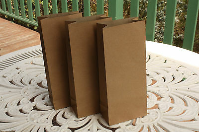 Bulk SMALL BROWN PAPER Bags Lolly Gift Loot Flat Kraft Party Wedding CANDY BAG