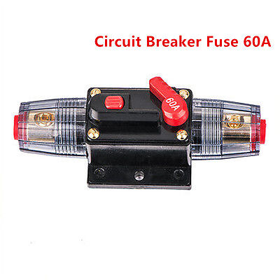 12v DC Car Auto Boat Audio Fuse Holder 60 Amp Manual Reset Circuit Breaker
