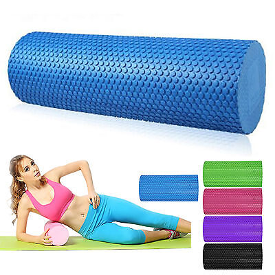 5 Colours EVA Yoga Pilates Foam Roller GYM Exercise Texture Physio Massage