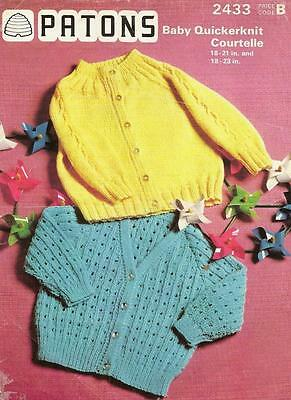 Original Vintage Pattern: 2 Styles Of Cardigans: 3 Sizes