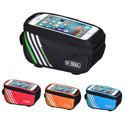Bicycle Cycling Bike Frame Front Tube Waterproof Mobile Phone Bag Holder Case