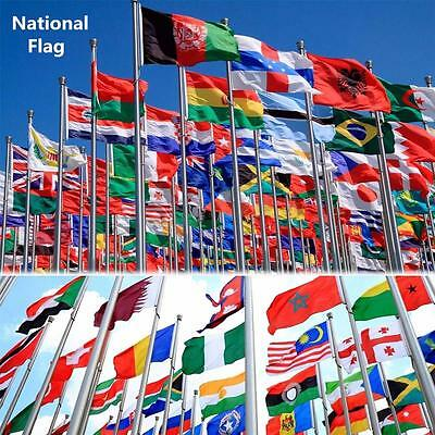 5'x3' / 3'x2' World National Country Flag Banner Bunting Pennant Football Sport