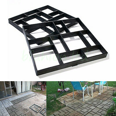 2x 50x50 Paving Brick Patio Concrete Slabs Path Pathmate Garden Walk Maker Mould