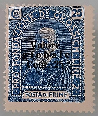 Fiume 1919 Sc # B16 Semi Postal 2 Lire Mint MHR Stamp Collection