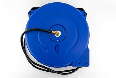 "Auto Rewinding Air PCV Hose Reel 1/4"" x 15 m Meter Retractable Garage Mountable"