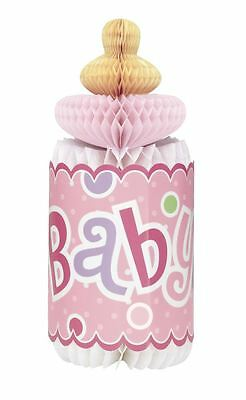 Baby Shower Party Decoration Supplies Partyware - Pink Dot Honeycomb Bottle
