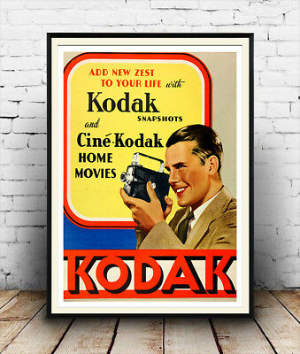 KODAK : VINTAGE photography advertising , Reproduction poster, Wall art