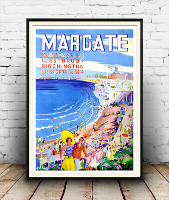 Margate : Vintage Travel advertising , Reproduction poster, Wall art.